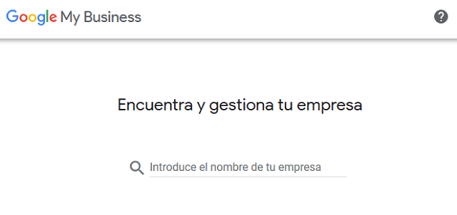 Crear una ficha en Google My Business